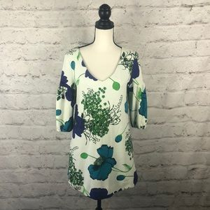 NWOT Anthropologie Deletta Floral Dress Sz Small
